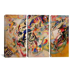 'Composition VII' by Wassily Kandinsky Print Multi-Piece Image on Wrapped Canvas by Zipcode Design