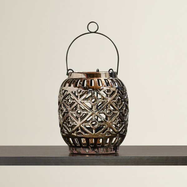 Ceramic Lantern by Bungalow Rose