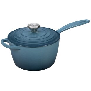 Enameled Cast Iron Signature Saucepan with Lid ByLe Creuset