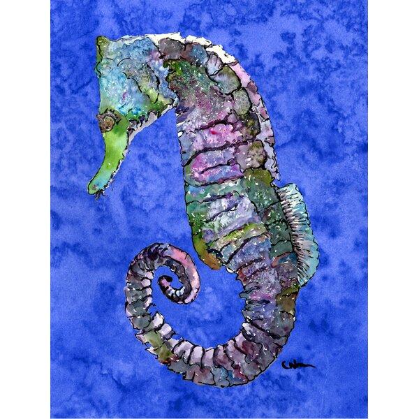 Seahorse House Vertical Flag by Caroline's Treasures