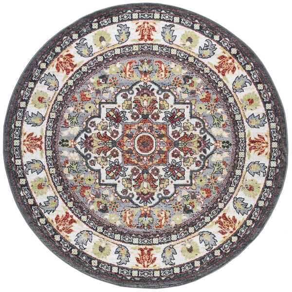 Tyshawn Oriental Gray/Brown Area Rug by Bungalow Rose
