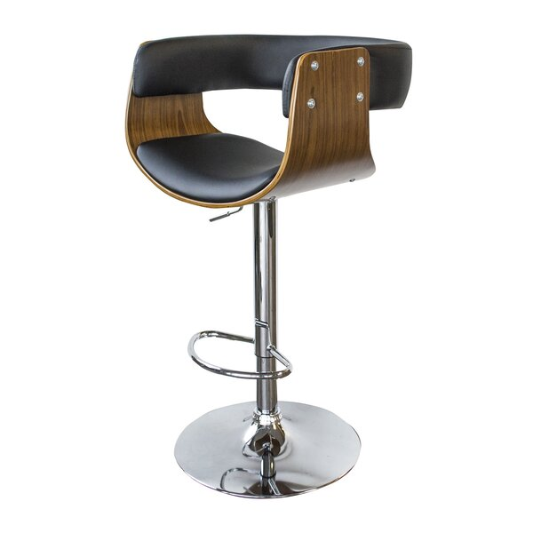 Vanwagenen Adjustable Height Swivel Bar Stool by Wrought Studio