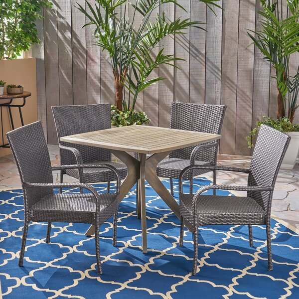 Adonis Outdoor 5 Piece Dining Set by Wrought Studio