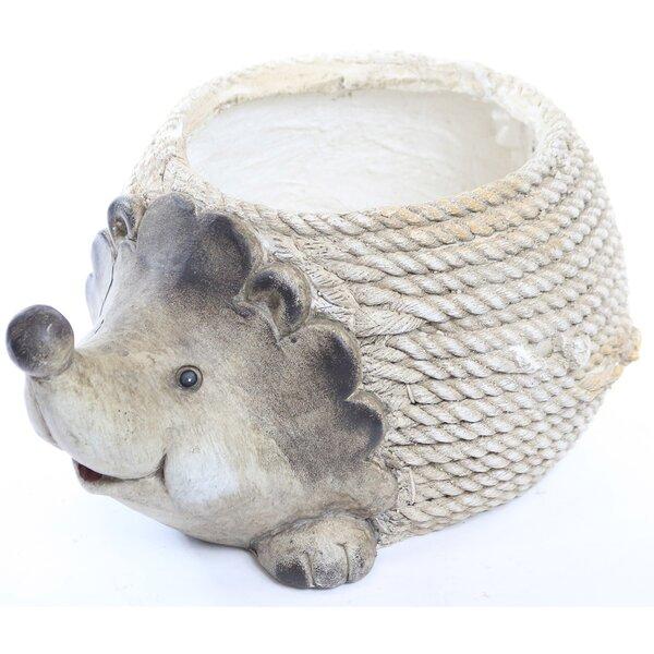 Hedgehog Rope Resin Planter by Alpine