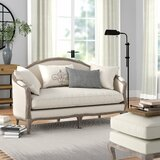 Duffield Microfiber 63.8 Flared Arm Settee by Three Posts