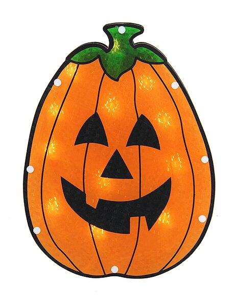 Holographic Pumpkin Halloween Window Silhouette Decoration by Sienna Lighting