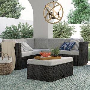 Jordin 4 Piece Sofa Set Group with Cushions