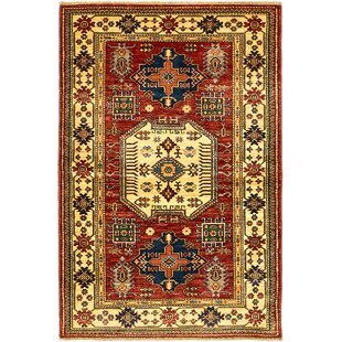 Deals One-of-a-Kind Alayna Hand-Knotted 3'5 x 5'2 Wool Red/Beige Area Rug By Isabelline