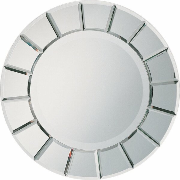 Wagstaff Round Sun-Shape Accent Mirror by Breakwater Bay