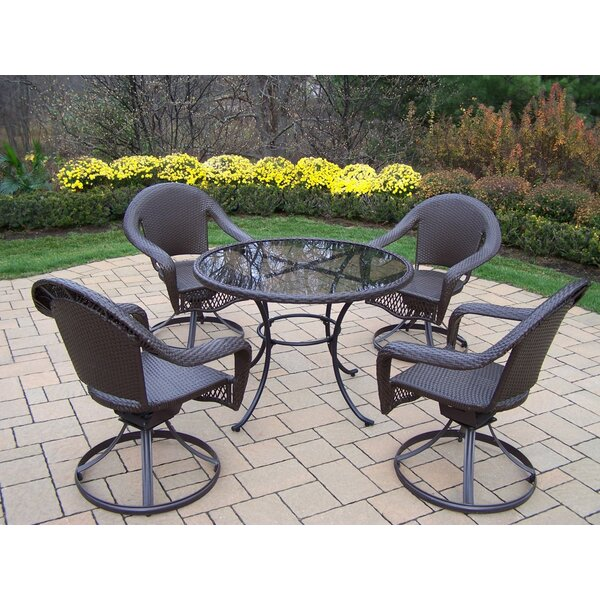 Kingsmill 5 Piece Dining Set by Rosecliff Heights