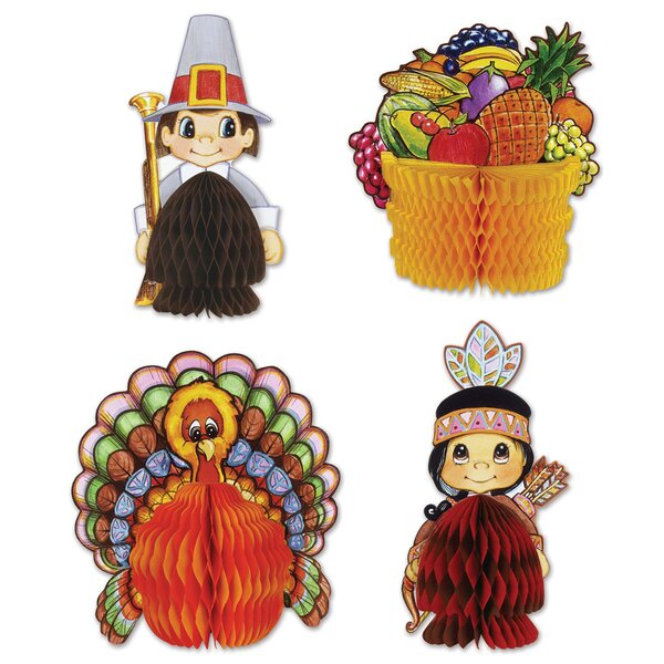Fall/Thanksgiving 4 Piece Centerpiece Set by The Holiday Aisle