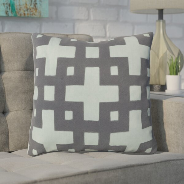 Bright Squares Cotton Throw Pillow by Brayden Studio