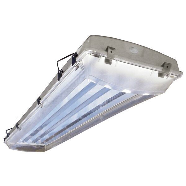 6-Light Vapor Proof High Bay Fluorescent Light Fixture by Howard Lighting