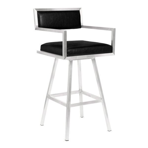 Latrobe 30 Swivel Bar Stool by Wrought Studio