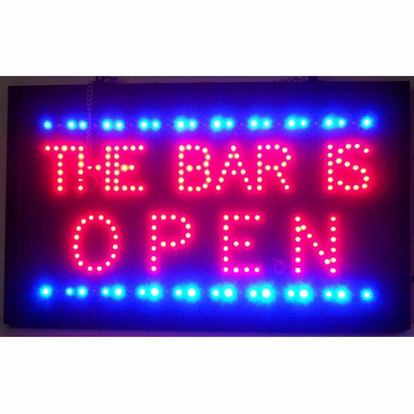 Bar is Open LED Sign by Neonetics