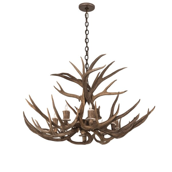 Scruggs Deer 8-Light Unique / Statement Wagon Wheel Chandelier by Loon Peak Loon Peak