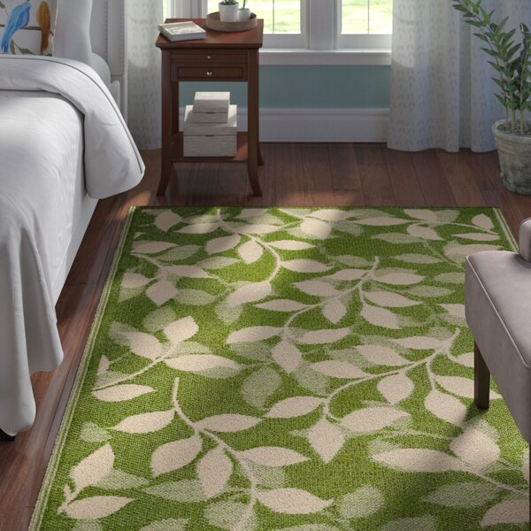 Martina Forest Green/Cream Indoor/Outdoor Area Rug by Andover Mills