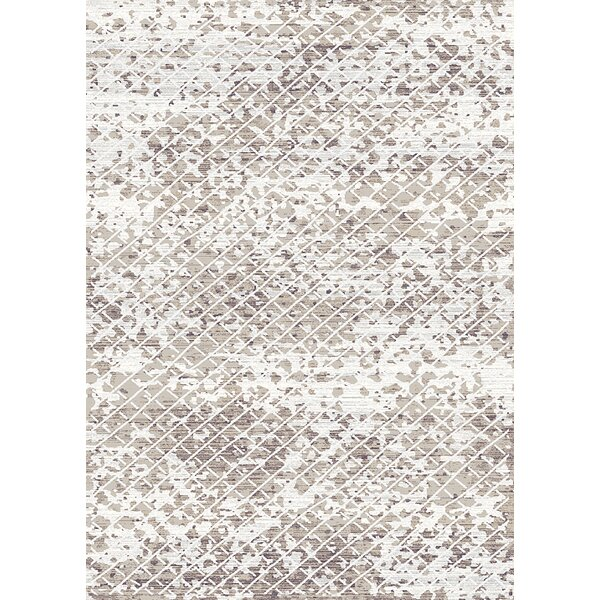 Palmview Trellis Moroccan Modern Ivory/Beige Area Rug by Bungalow Rose