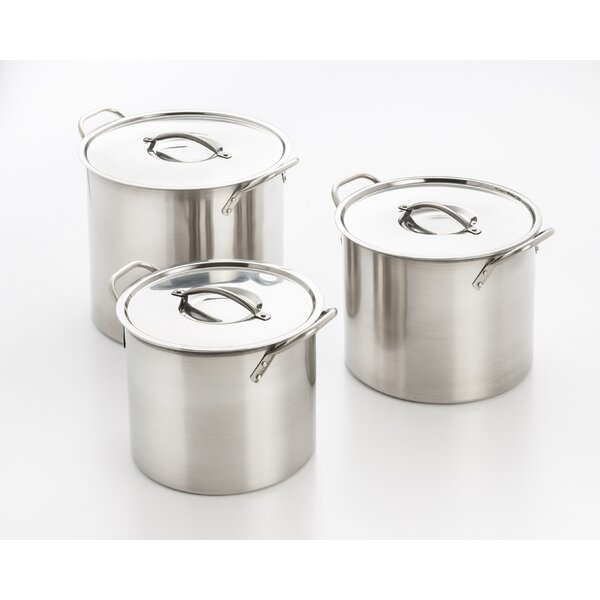 6 Piece Stock Pot Set by Cook Pro