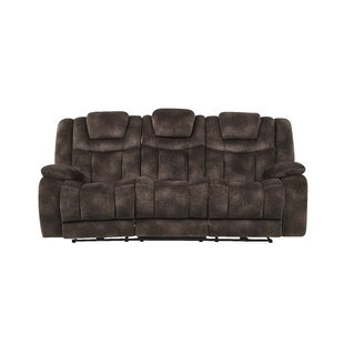 Armel Power Adjustable Headrest Reclining Sofa Red Barrel Studio
