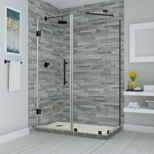 Aston Bromley 30 X 72 Rectangle Hinged Shower Enclosure Wayfair