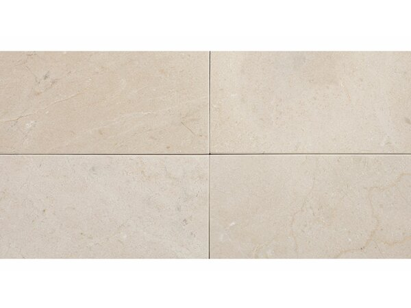 Crema Marfil 3 x 6 Marble Subway Tile in Beige by Parvatile