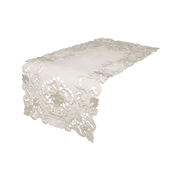 Jamin Embroidered Cutwork Table Runner by Ophelia & Co.