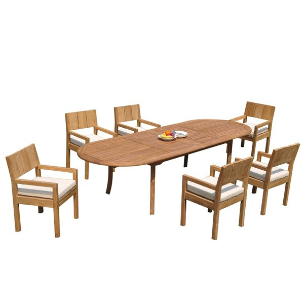 Foerer 7 Piece Teak Dining Set by Rosecliff Heights