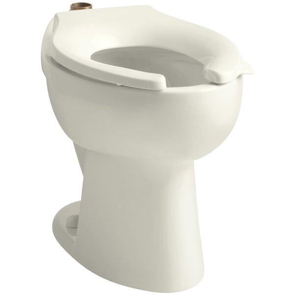 Highcrest 1.6 GPF 16-1/2 Ada Elongated Toilet Bowl with Top Inlet, Requires Seat by Kohler