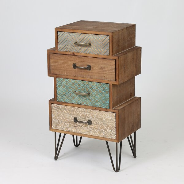 Shop For Burhardt 4 Drawer Accent Chest by Bloomsbury Market