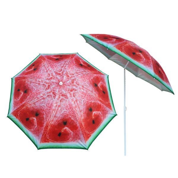 Zimmer Watermelon 5.2' Beach Umbrella by Rosecliff Heights Rosecliff Heights