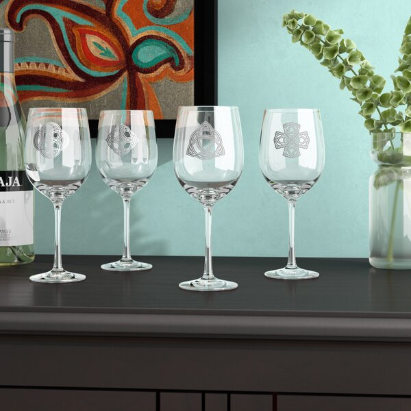 Hatley Celtic Knots Wine Glass (Set of 4) by World Menagerie