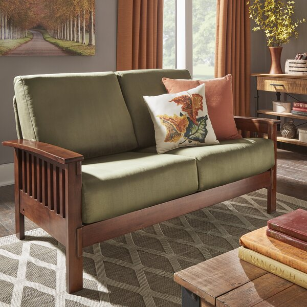 Winnifred Mission Loveseat by Three Posts