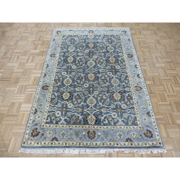 One-of-a-Kind Railey Peshawar Oushak Hand-Knotted Wool Blue Area Rug by Astoria Grand