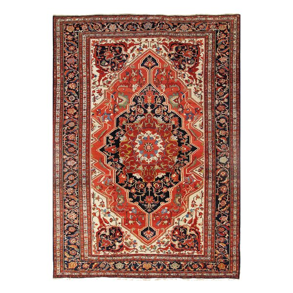 One-of-a-Kind Glison Hand-Knotted Rust 10'6 x 15'3 Area Rug