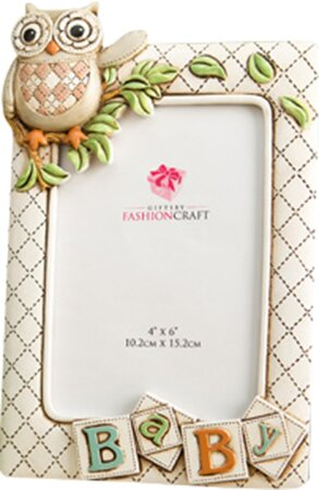 Gifts Baby Owl Picture Frame by Fashion Craft