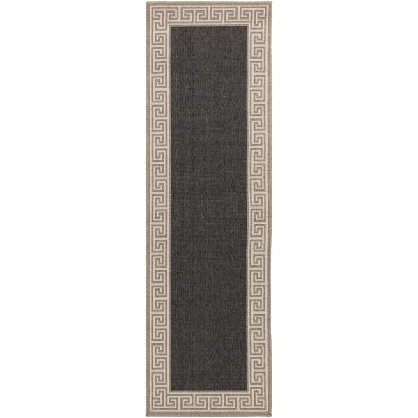 Pearce Black/Tan Indoor/Outdoor Area Rug by Charlton Home