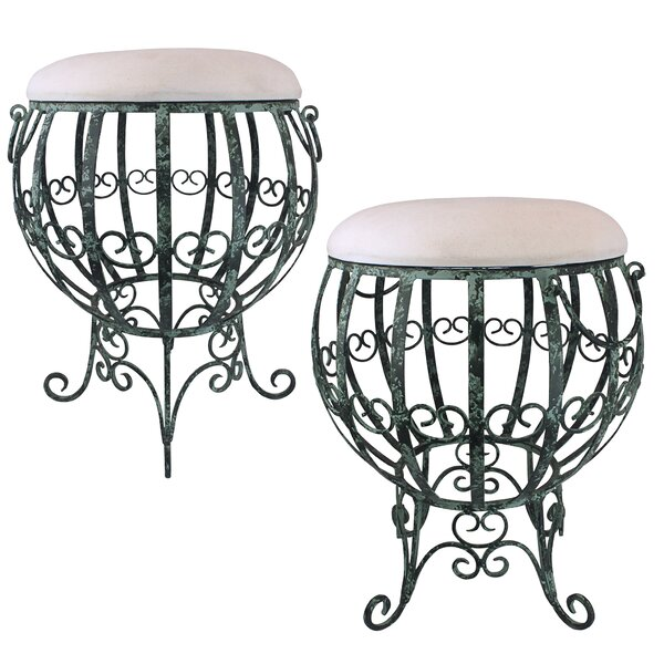 Le Geant Des Hot Air Balloon Metal Vanity Stool (Set of 2) by Design Toscano