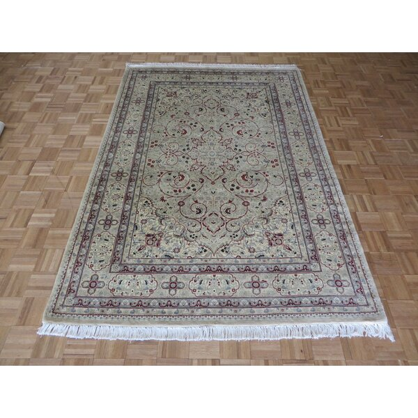 One-of-a-Kind Padro Hand-Knotted Wool Beige Area Rug by Bloomsbury Market