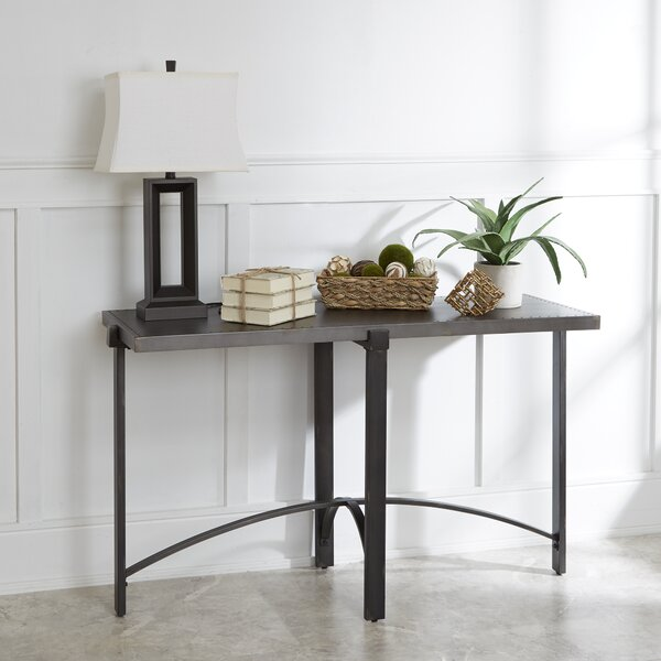 Baratta Distressed Console Table by Ivy Bronx