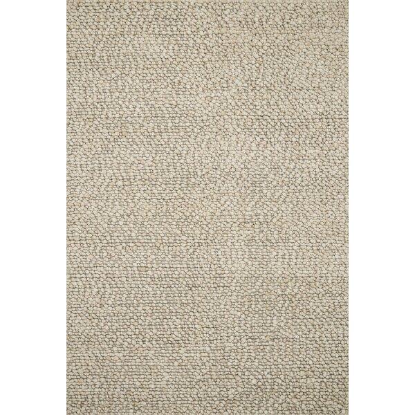 Francine Hand Woven Wool Oatmeal Area Rug by Gracie Oaks