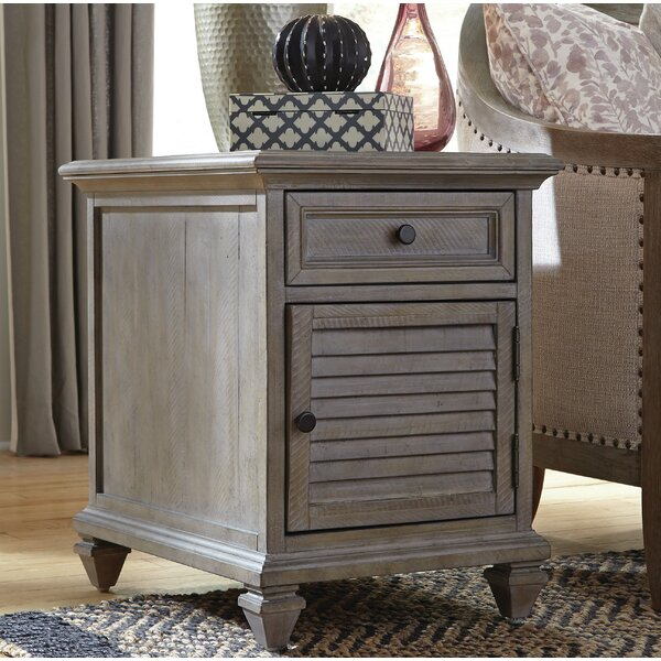 Altenburg End Table with Storage by Greyleigh
