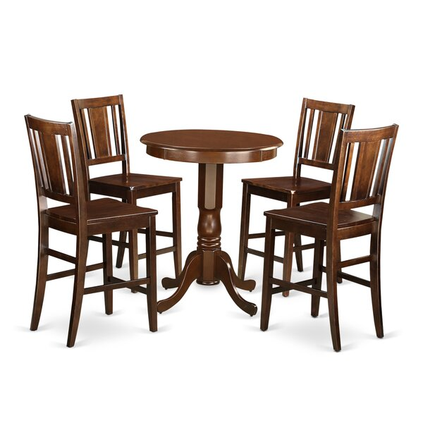 5 Piece Counter Height Pub Table Set By Wooden Importers Discount