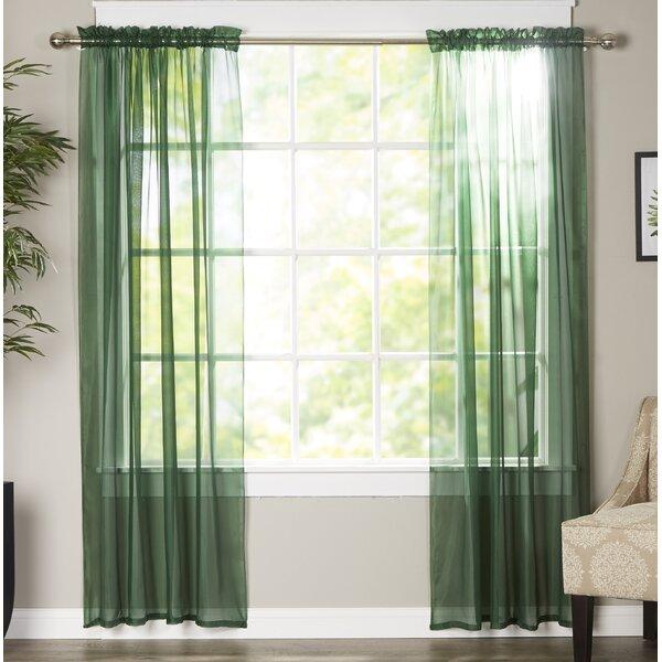 Emerald Green Sheer Curtains Wayfair