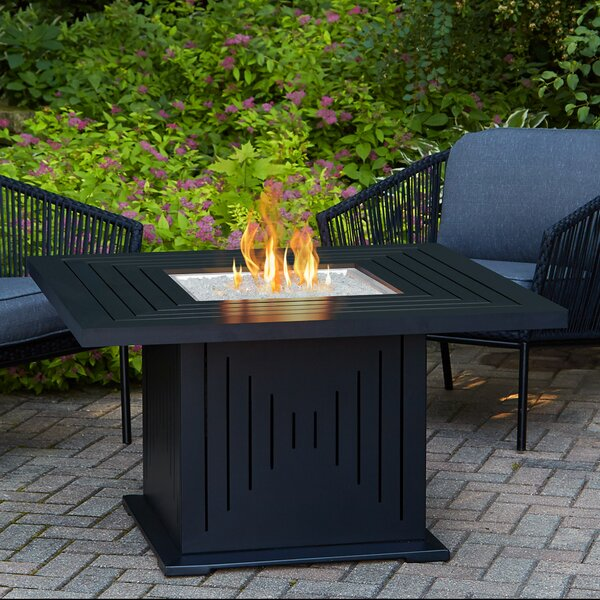 Cavalier Aluminium Propane Fire Pit Table by Real Flame