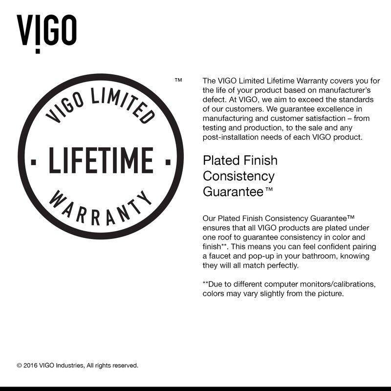 Vigo Bathroom Faucets vigo niko single lever vessel bathroom faucet with pop up drain