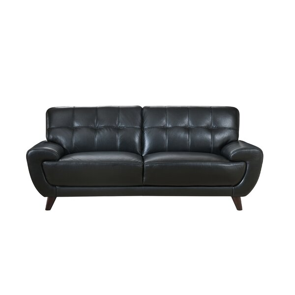 #1 Sterns Craft Leather Loveseat By Brayden Studio Top Reviews