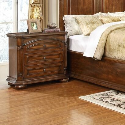 Gusman 3 Drawer Nightstand by Fleur De Lis Living