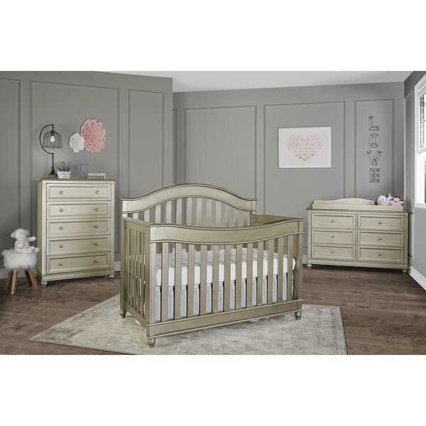 Hampton 5-in-1 Convertible Crib Set with Mattress