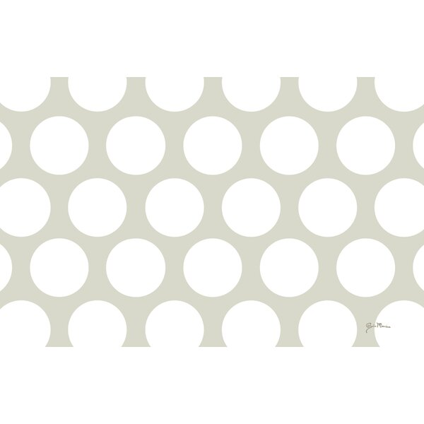 Amina Polka Dot White Area Rug by Manual Woodworkers & Weavers